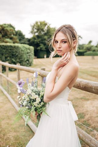 Lavender and Wildflower Silk Bridal Bouquet