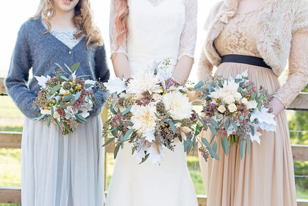 Rustic Bride and Bridesmaids Bouquets