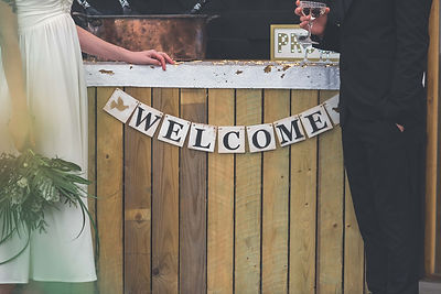 Wooden Wedding Welcome Banner