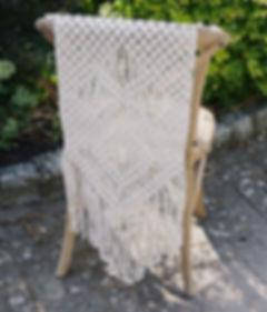 Bohemian Macrame Bride and Groom Chairbacks