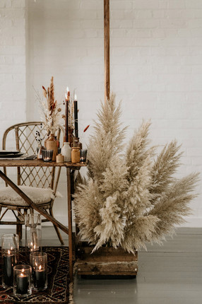 Pampas Installations for the Sweetheart Table