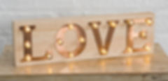 Copper LED Love Sign for Hire