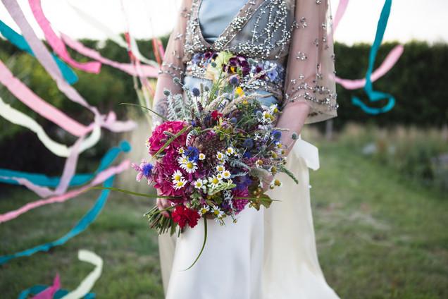 Bridal Bouquet of Local Seasonal Flowers