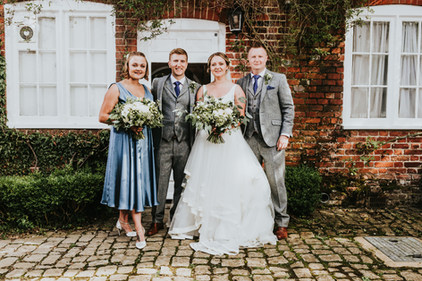 London Wedding with Green and White Wedding Flowers