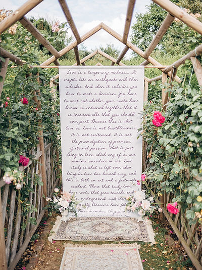 Literary Themed Wedding Backdrop