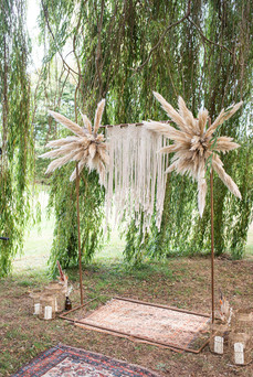 Pampas Wedding Ceremony Decor