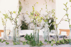 Summer Foliage Wedding Reception Table Centres