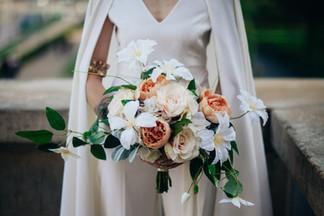 Silk Flower Bouquet for a Destination Wedding in Paris