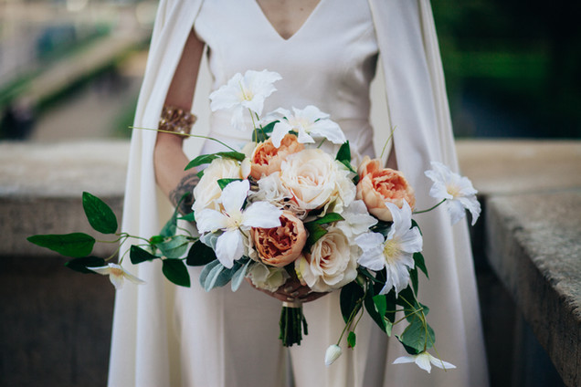 Silk Flower Bouquet for a Destination Wedding in Paris