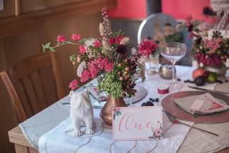 Wedding Reception Table Centres of Local Seasonal Flower