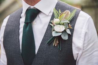 Faux Flower Buttonhole