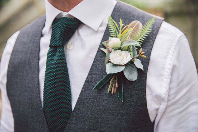 Faux Flower Buttonhole