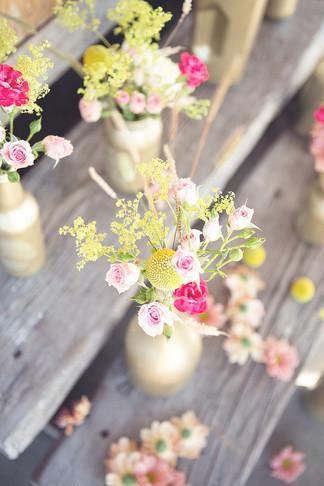 Seasonal Flower Bottle Arrangements