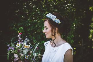Blue Artificial Silk Flower Headband