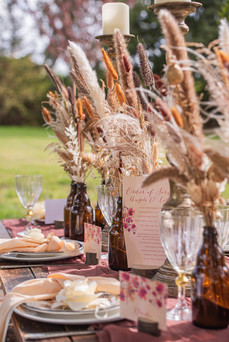 Dried Flower Table Decor