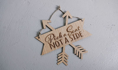Wedding Arrow Pick a Seat Not a Side Ceremony Sign