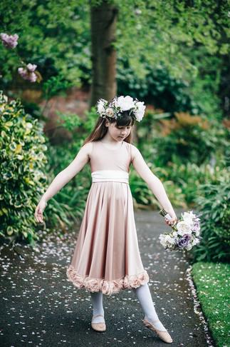 Flowergirl Silk Wedding Bouquet and Hair Garland