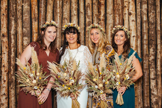 Dried Flowers for Bride and Bridesmaid Bouquets