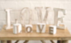 White Wood LOVE Wedding Sign Decorations