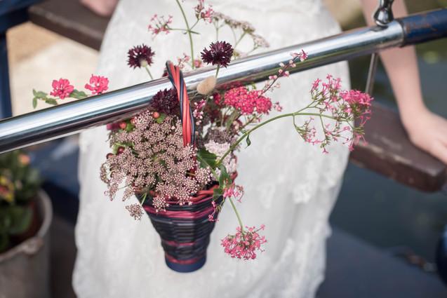 Flowergirl Basket of Local Seasonal Flower