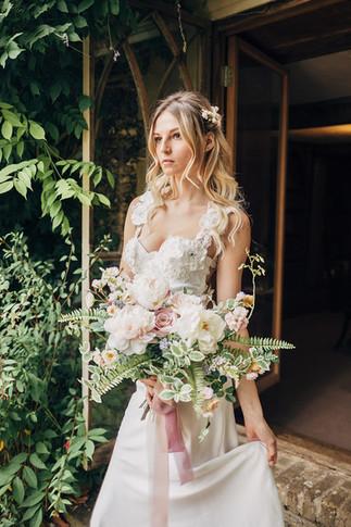 Light Pink Artificial Flower Bridal Bouquet