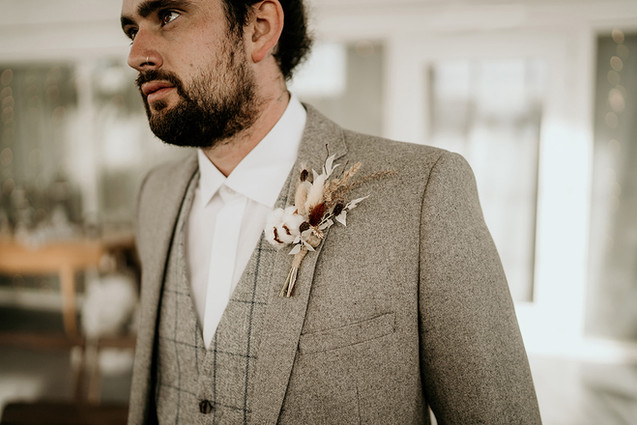 Dried Flower Buttonhole