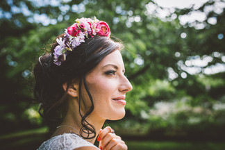 Pink Faux Floral Headband