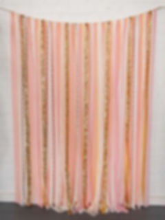 Pink Peach Gold Wedding Backdrop