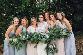 Bride and Bridesmaid Wedding Flowers Kent