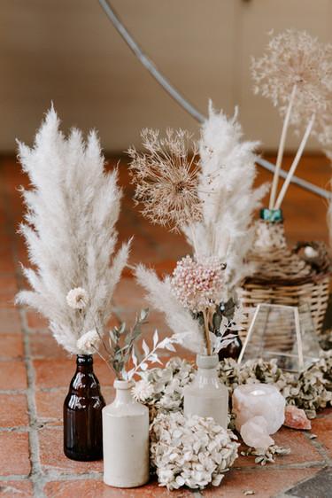 Dried Flower Wedding Arrangements