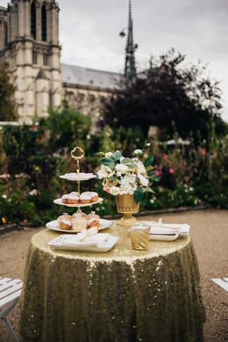 Paris Elopement with Silk Wedding Flowers