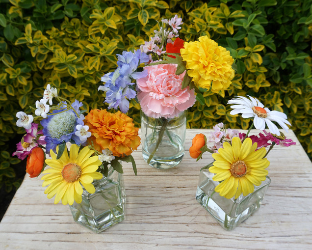 Colourful Wedding Table Floral Arrangements