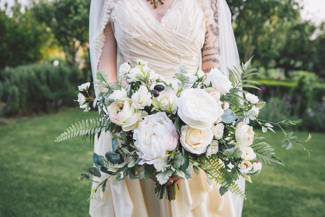 Ivory Artificial Flower Bridal Bouquet