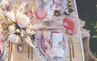 Faux and Dried Flower Wedding Tablecentre
