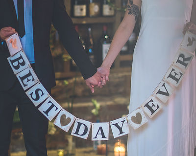Wooden Wedding Best Day Ever Banner