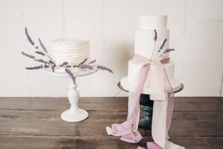 Lavender Wedding Cake Decoration