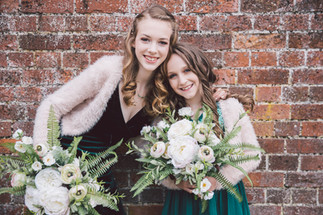 Ivory Faux Flower Bridesmaid Bouquets