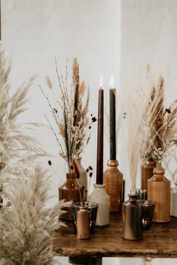 Dried Flower Table Arrangements