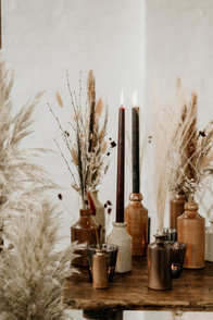 Dried Flower Table Arrangements
