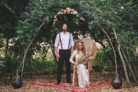 Bohemian Wedding Ceremony in West Sussex