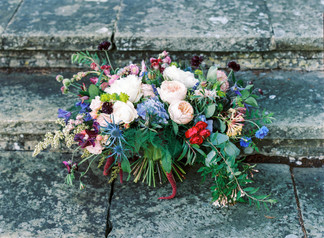 Large Colourful Bouquet of Local Seasonal Flowers