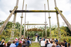 Ceremony Space at Wilderness Weddings Kent