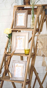 Wooden Ladder for Wedding Table Plan