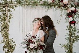 Dried and Faux Flower Ceremony Arch