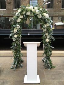 London Wedding Ceremony Arch
