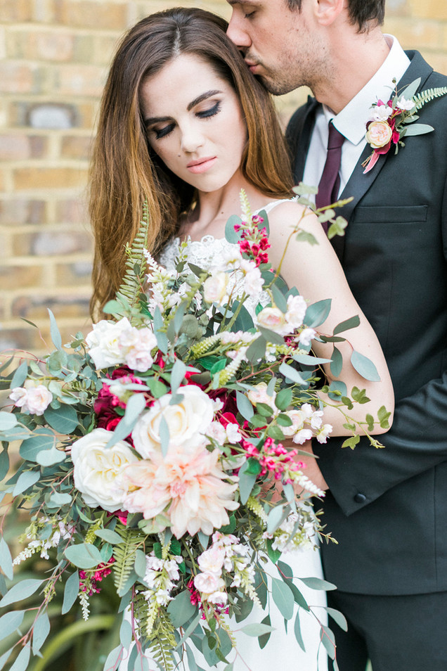 Statement Silk Flower Bouquet at AMP Studios London