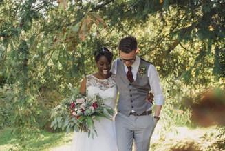 Bride and Groom at Prest Court Wedding Venue Kent