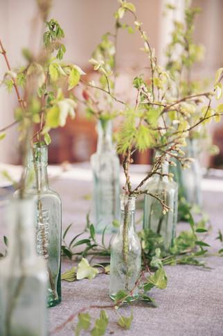 Seasonal Foliage Wedding Reception Table Centres