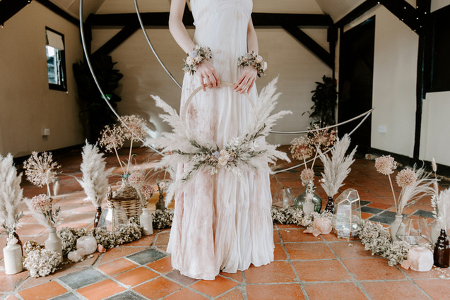 Dried Flower Ceremony Arrangements