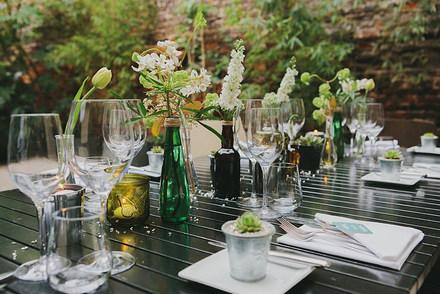 Modern Urban Botanical Table Styling